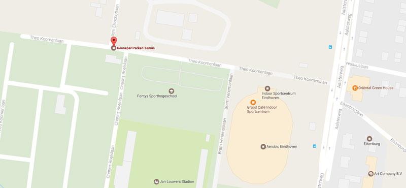 Genneper Parken Tennis locatie